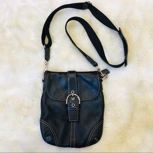 Mini leather coach purse adjustable crossbody